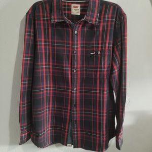 Levi's button down plaid shirt sz Large